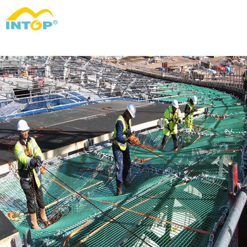 High Strength Cheap Price Construction Building Polyester Nylon Green Knotless Fall Protection Safety Net For Promotion