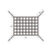Intop Amazon hot sale interior cargo net for suv.