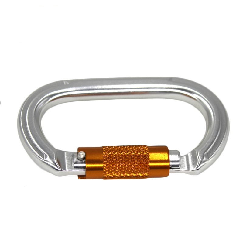 Factory Price Triple Action Heavy Duty 45KN Climbing Twist Auto Lock Steel Carabiner For Wholesale