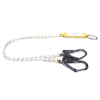 Cheap Price CE Certificated Double Forged Hook Shock Absorbing Lanyard for Safety Harness