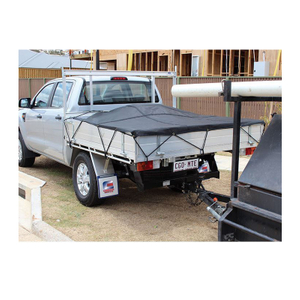 Truck Bed Cargo Net 3.5x4.1ft Truck Cargo Net Zinc Plate 4 S-Hook Straps HOT